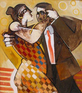 Oil painting Geoffrey Key Tango