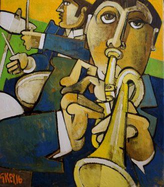 Oil painting Geoffrey Key Rhythm