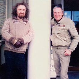 Geoffrey Key with Lancashire artist Brian Bradshaw