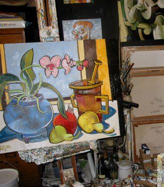 Still life painting work