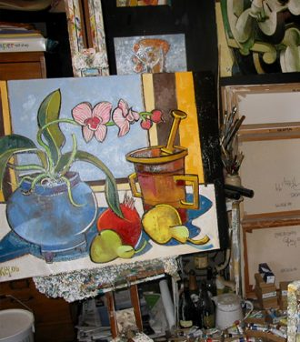 Still life painting work