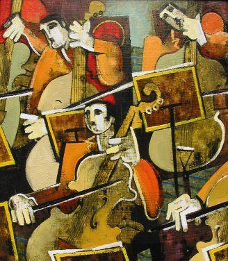 Oil painting Geoffrey Key Strings