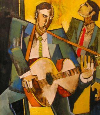 Oil painting Geoffrey Key Entertainers