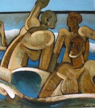 Oil painting Geoffrey Key Bathers