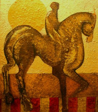 Geoffrey Key Rider Oil painting