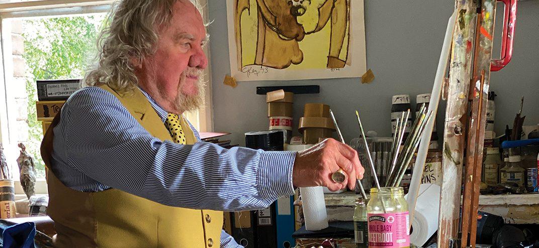 Geoffrey-Key-artist at easel