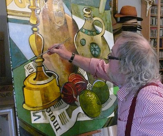 Geoffrey Key at easel